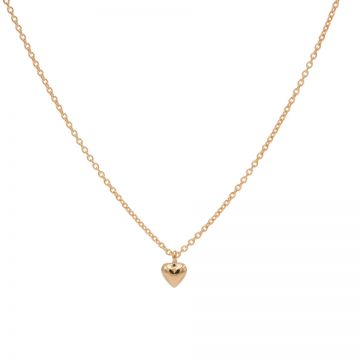 Necklace 3D Heart Roseplated