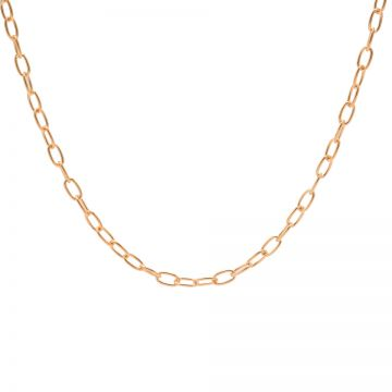 Necklace Oval Chains Roseplated 50-57CM