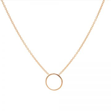 Necklace Circle Roseplated