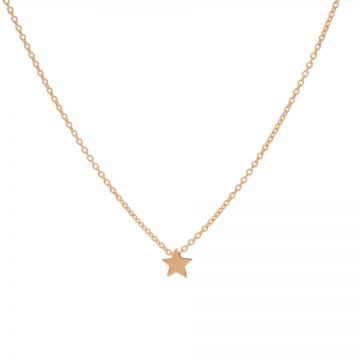 Necklace Star Roseplated