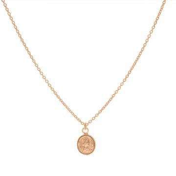 Necklace Coin Roseplated 50-57CM