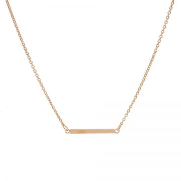 Necklace Square Tube Roseplated