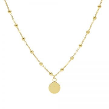 Necklace Disc Dots Goldplated 50-57CM