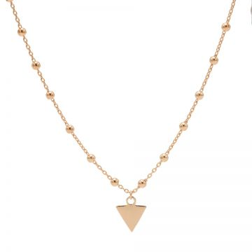 Necklace Dots Triangle Roseplated