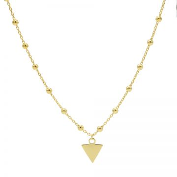 Necklace Dots Triangle Goldplated