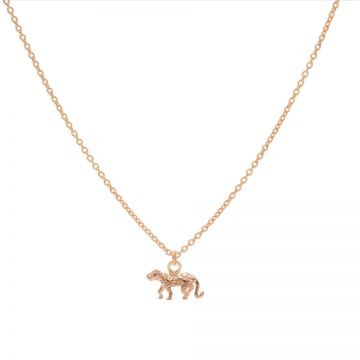 Necklace Leopard 3 Roseplated 50-57CM