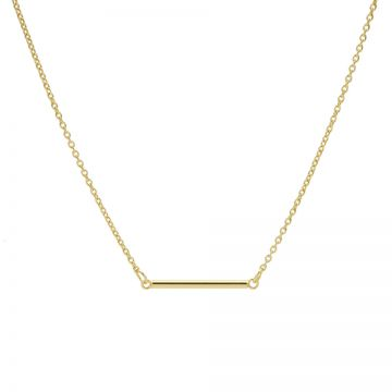 Necklace Round Tube Goldplated