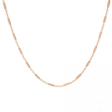 Necklace Tubes Roseplated 50-57CM