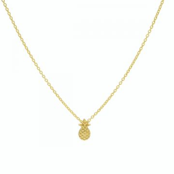 Necklace Pineapple Goldplated 50-57CM