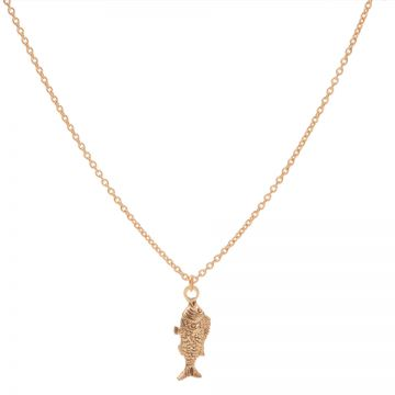 Necklace Fish Roseplated