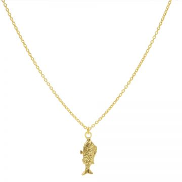 Necklace Fish Goldplated 50-57CM
