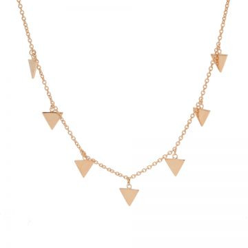 Necklace 7 Triangles Roseplated