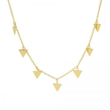 Necklace 7 Triangles Goldplated