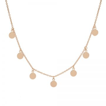 Necklace 7 Discus Roseplated