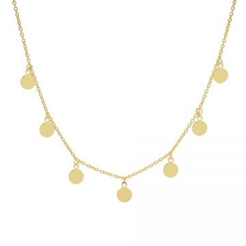 Necklace 7 Discus Goldplated